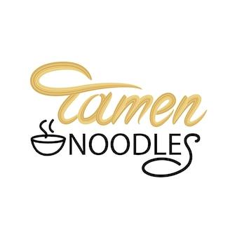 Ramen noodles lettering design