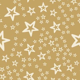 Modello casuale di stelle colorate, sfondo astratto. illustrazione di stile elegante e di lusso