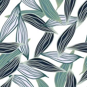 Modello di foglie di linea organica casuale. contesto botanico astratto. carta da parati della natura.