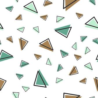 Motivo a triangolo casuale, sfondo geometrico astratto in stile retrò anni '80 e '90. illustrazione geometrica colorata