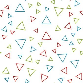 Modello di triangoli casuali, sfondo astratto. semplice illustrazione geometrica. stile creativo e di lusso