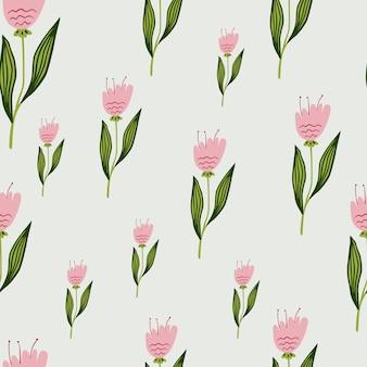 Modello senza cuciture casuale di fiori di campo su priorità bassa bianca. elegante design botanico.