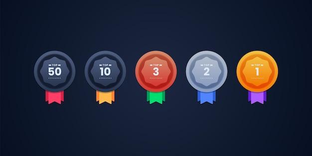 Illustrazione di progettazione di icone di rango