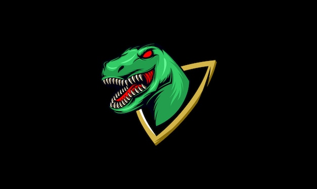 Esport di logo mascotte raptor