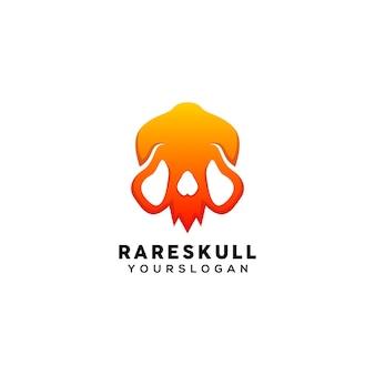 Modello di design del logo colorato teschio raro