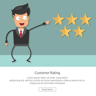 Valutazione sull'illustrazione del servizio clienti
