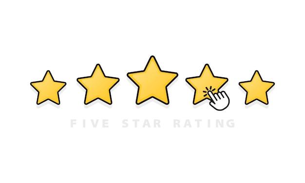 Illustrazione dell'icona di stelle di valutazione