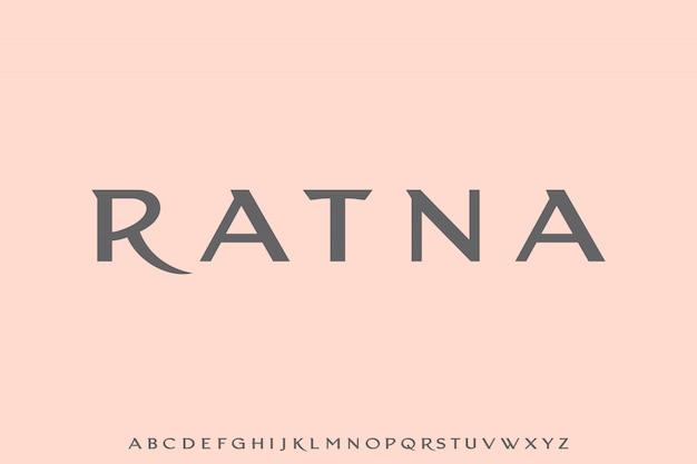 Ratna, il glamour di lusso e il font elegante