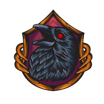 Illustrazione della testa di corvo