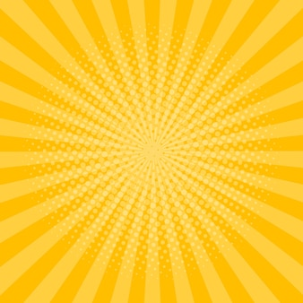 Raggi di sfondo con effetto mezzetinte