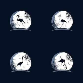 Logo reach dreams con simbolo della luna, logo reaching star