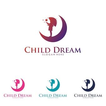 Modello di progettazione del logo per raggiungere le stelle