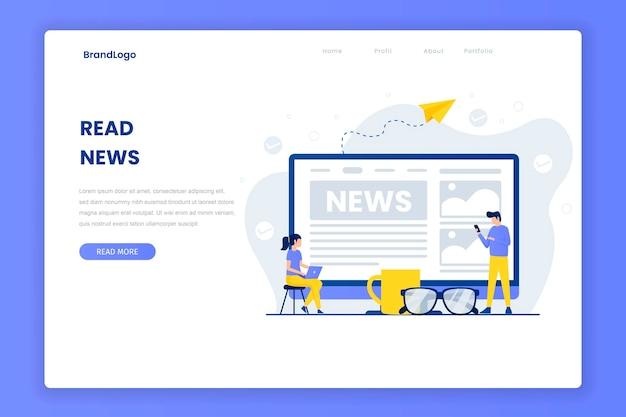 Leggi il modello della pagina di destinazione delle notizie