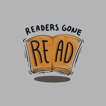 Lettori andati a leggere citazioni illustrazione