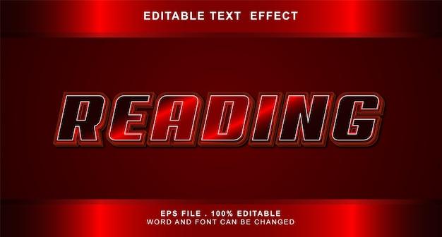 Lettura effetto testo modificabile