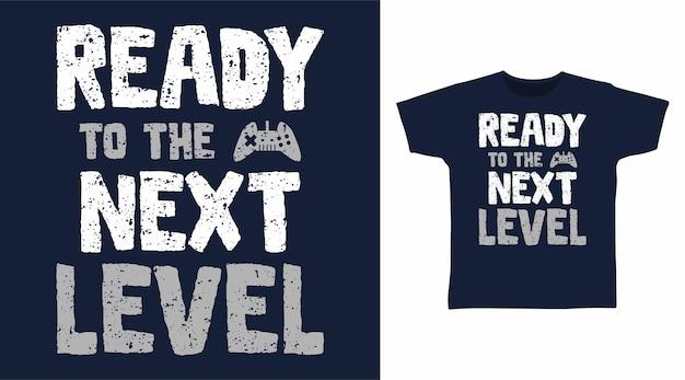 Pronto per i design di magliette tipografiche di livello successivo