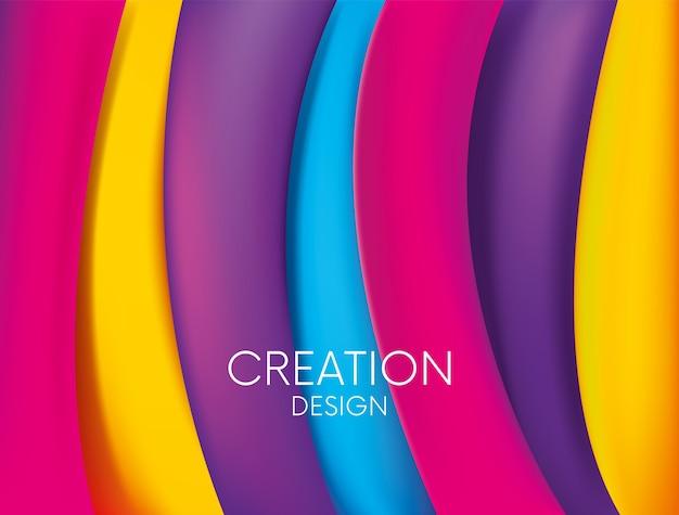 Design pronto per una cartolina o un poster. geometria delle onde e