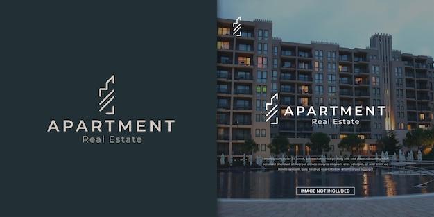 Modello di progettazione del logo dell'agenzia immobiliare