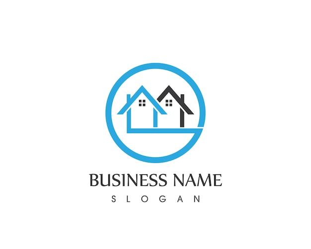 Progettazione logo casa di costruzione immobiliare