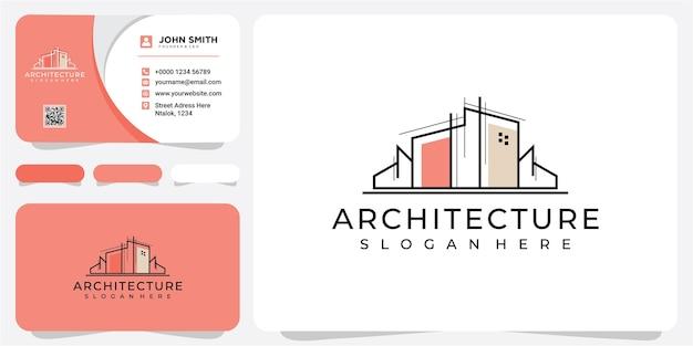Immobiliare che progetta il logo della casa che costruisce la struttura architettonica dell'ambiente costruito