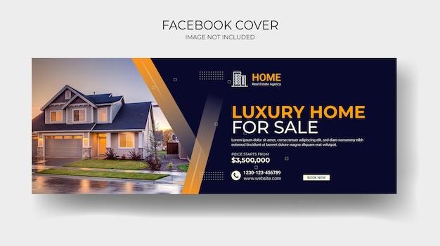 Copertina facebook immobiliare e post sui social media della casa o modello di banner quadrato