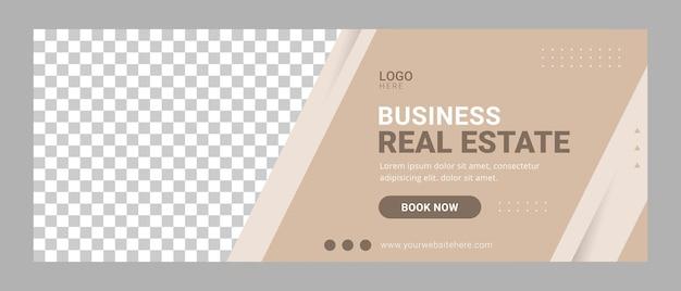 Banner modello copertina facebook immobiliare casa in vendita annuncio pubblicitario