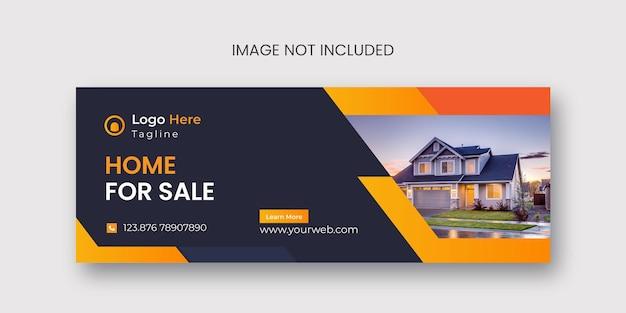 Copertina facebook immobiliare e design banner web