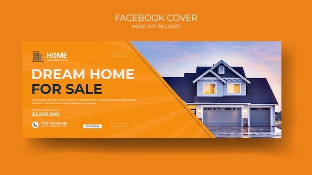 Modello di banner web copertina facebook immobiliare