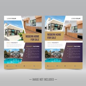 Modello di progettazione di volantini immobiliari