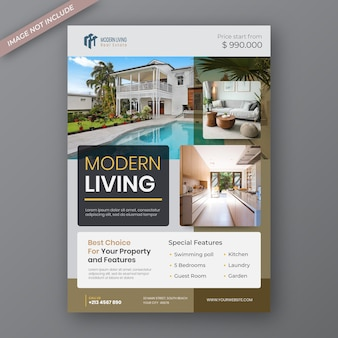 Modello di progettazione volantino immobiliare