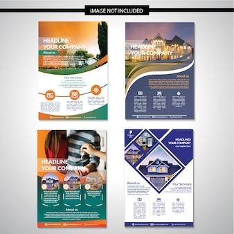Real estate design template volantino