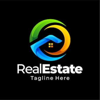 Design del logo gradiente immobiliare