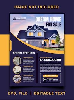 Promozione di social media di vendita di case immobiliari e design di post banner modello instagram