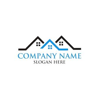 Immobiliare logo design della casa