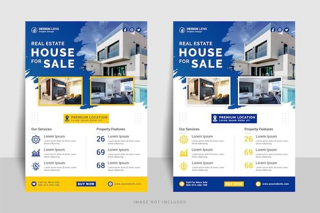 Modello di volantino di casa immobiliare in vendita