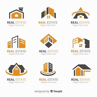 Collezione logo immobiliare