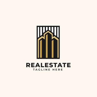 Modello di progettazione di logo immobiliare - logo di costruzione e architettura