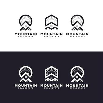 Design del logo immobiliare Vettore Premium