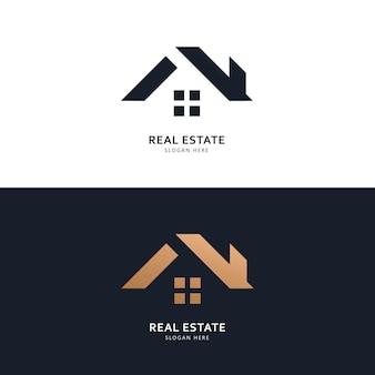 Logo immobiliare e concetto di design dell'icona