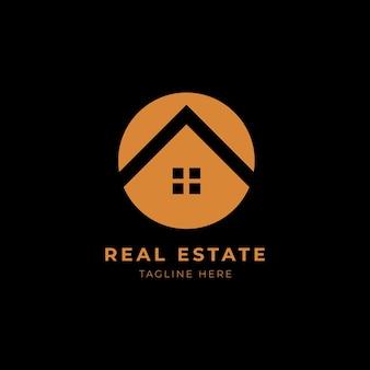 Modello di logo immobiliare. elegante e moderno edificio per la casa logo design vector