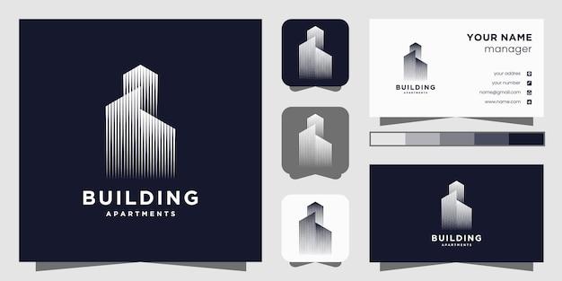 Modello di logo immobiliare.