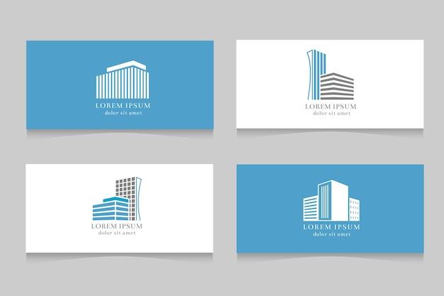 Logo immobiliare con design modello di biglietto da visita