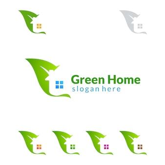 Logo del bene immobile con il concetto della serra
