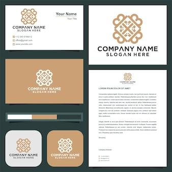 Logotipo immobiliare design dell'icona del logo delle chiavi e logo premium premium del biglietto da visita