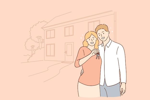 Nuovo concetto di appartamento immobiliare
