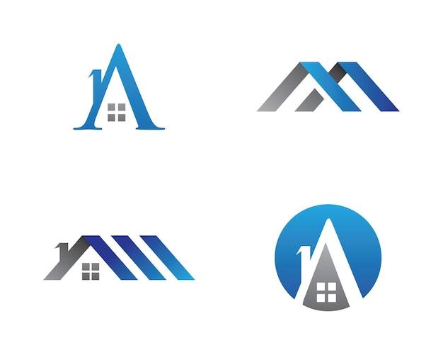 Progettazione del logo immobiliare, immobiliare e delle costruzioni