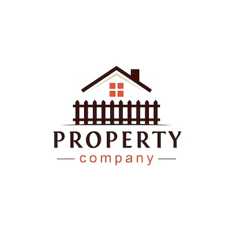 Proprietà immobiliare logo design