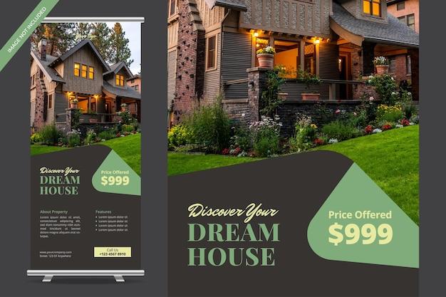 Progettazione di banner roll up immobiliare