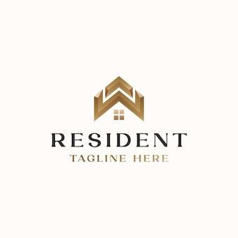 Modello di logo di casa tetto immobiliare isolato in sfondo bianco isolated