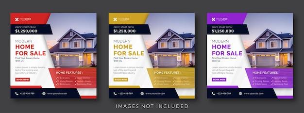 Banner pubblicitario di social media immobiliare